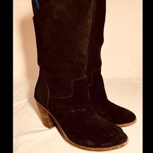 Lucky Brand Women's 'Embrleigh' Black Suede Boots